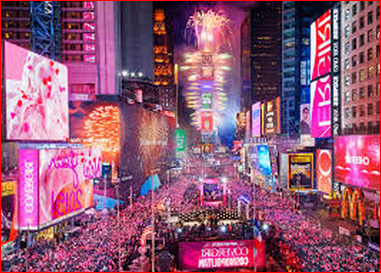 Times Square New York New Years Eve 2019