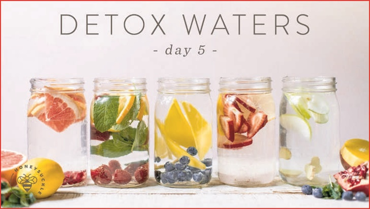 "5 Day Detox Water Challeng Detox Water has taken the internet by storm! Find out why ... Yep you'll drink the 60oz each day! for the 5-7 days of the detox! Hope that  - For 120 hours, I didn't have a single calorie of food. I lost weight, cleaned out my system, and felt awesome. Here's why.The Master Cleanse, or Lemonade Diet, is a juice fast used for quick weight loss. Here's a deep ... Overall score: 2; Fast weight loss: 5; Long-term weight loss: 1; Easy to follow: 2; Nutrition quality: 0 ... Day 4: Drink only water and fresh-squeezed orange juice. .... Are you up for our mindful eating challenge?   Recharge your system with our express detox meal plan. ... 5. Drink: Aim to drink three litres of fluid daily. This will help move the lymph and ... ... for weight loss is great. We created a 14 Day Lemon Water Challenge for weight loss. Try this lemon water detox for weight loss with us. ... Day 5: Mix together five squeezed lemons with 5 cups of water and honey. Drink it three times just like ...  Lemon Detox Diet in Weight Loss Drinks. ... Have found the first 2 days to be a challenge but once you get to day 3 it's a total breeze. I don't get hungry .... By the end of day one I weighed 4.5kg heavier, due to the salt water flush not working. ..... 7 Day Detox. 5 reviews. Pure Natural Health 14 Day Detox ...Print out the ""30 Days of Detox Water"" printable for healthy flavored water ... #5. Designate a water bottle for the challenge. I highly recommend the Timer Bottle!e"