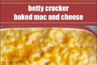 Betty Crocker Baked Mac And Cheese