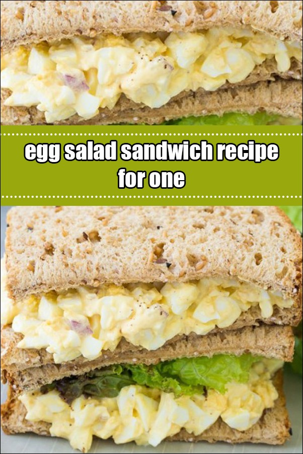 Egg Salad Sandwich Recipe For One