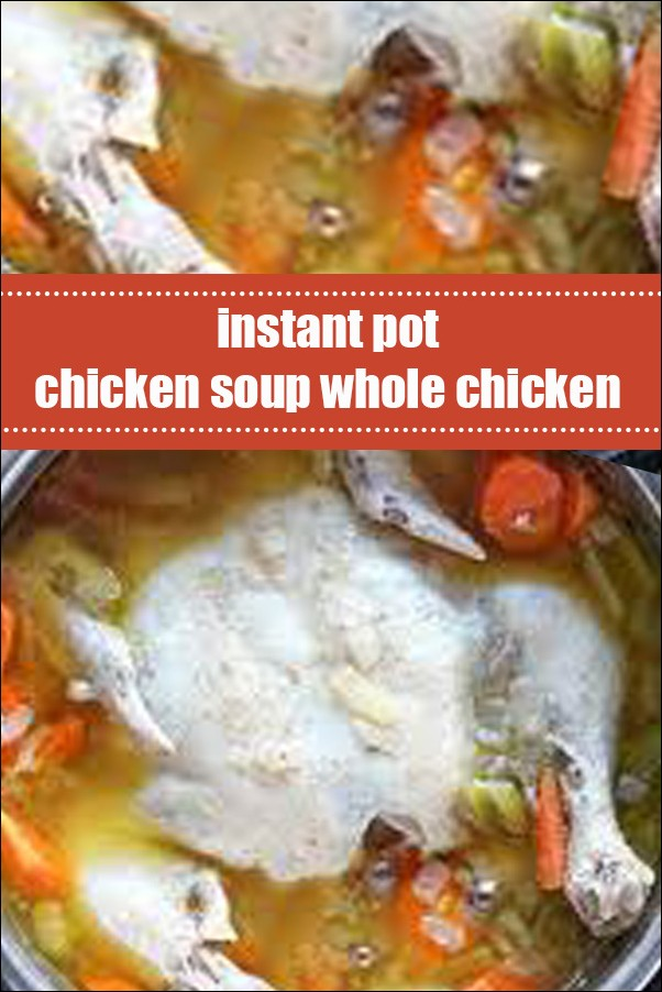 Instant Pot Chicken Soup Whole Chicken