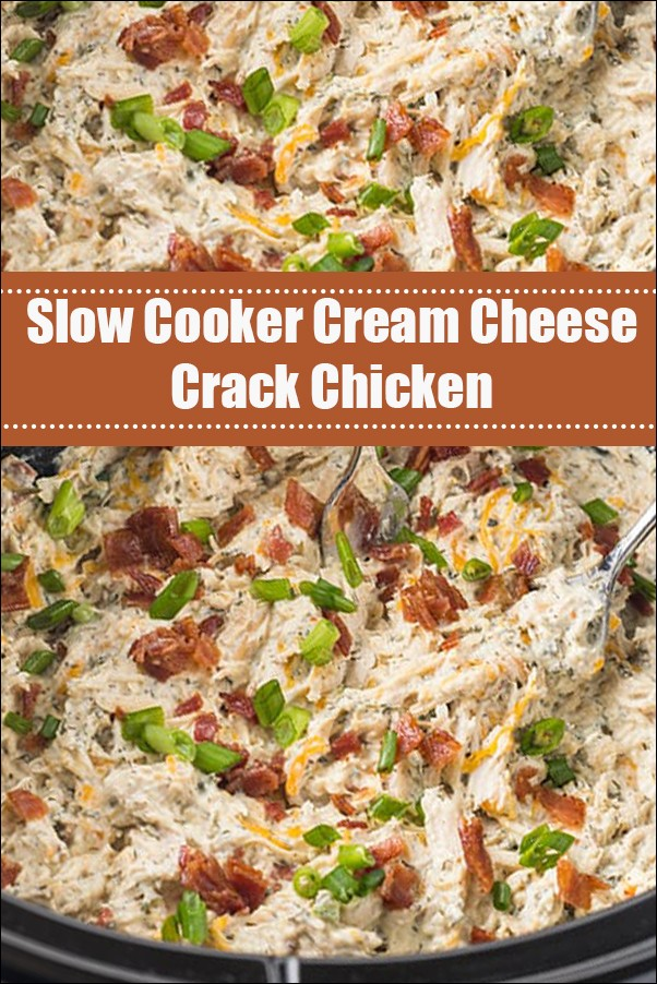 Slow Cooker Cream Cheese Crack Chicken