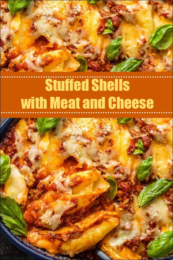 Stuffed Shells With Meat And Cheese