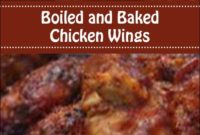 Boiled And Baked Chicken Wings