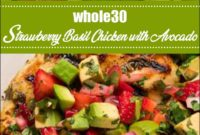 Whole30 Strawberry Basil Chicken With Avocado